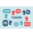Team people with different shapes cloud talk or vector image