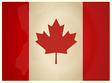 Vintage Canada Flag vector image