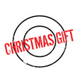 christmas gift rubber stamp vector image