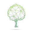 Tree abstract isolated on a white backgrounds vector image