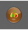 Organic wood application icons vector image vector image