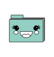 cute folder kawaii vector image