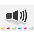 realistic design element sound on vector image
