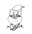 card for the new year santa claus happy vector image