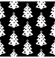 Christmas tree symbol seamless pattern vector image