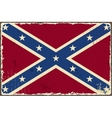 Confederate grunge flag vector image