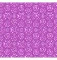 Dots circles seamless pattern in shades of lilac vector image