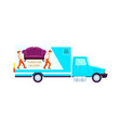 furniture delivery freight truck icon vector image