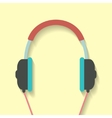 headphone icon in flat style vector image