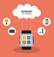 internet of things smart watch device gadget vector image