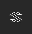 Letter S logo monogram modern symbol mockup for vector image