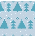 seamless pattern with New Year 8 bit trees vector image