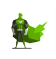 Superhero In Green Suite vector image