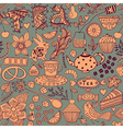 Teasweets seamless doodle pattern Copy that square vector image