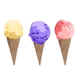 Set of ice cream cones EPS vector image