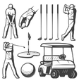 Vintage Golf Elements Collection vector image