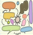 sketchy bubble speech vector image vector image