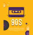 music of the 90s vector image