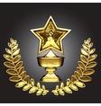 golden award vector image vector image