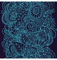 endless pattern with flowers vector image