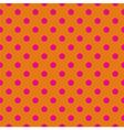 Pink polka dots tile wallpaper background vector image vector image
