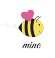 Bee mine vector image