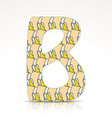 The letter b of the alphabet made of bananas vector image