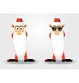 cute santa claus with long beard vector image