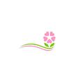 beauty flower decoration logo vector image