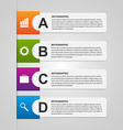 Design paper banners for business Options vector image