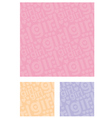 seamless text pattern vector image vector image