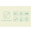 Set of North Korea simple icons vector image