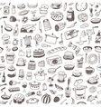 cooking food seamless background vector image
