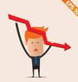 Cartoon Businessman negative graph - - EPS10 vector image