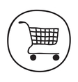 Doodle Shopping Cart icon vector image