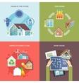 Energy Saving House Flat vector image