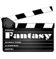 Fantasy movie clapperboard vector image