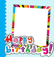 Happy Birthday scrapbook vector image
