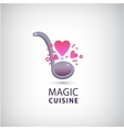 magic cuisine love cook logo vector image