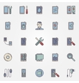 Smartphone repair colorful icons vector image
