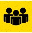 teamwork silhouettes design vector image