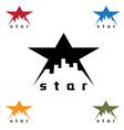 urban star design template vector image
