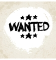 Wanted Grunge Text vector image