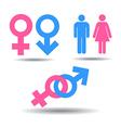 Symbols of men and women vector image