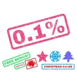 01 Percent Rubber Stamp vector image