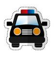 police patrol car icon vector image