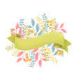 graine ribbons and flowers vector image vector image