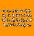 english alphabet abc letters modern brushed vector image