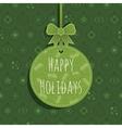 green christmas ornament vector image vector image