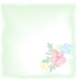Digital watercolor background with flowers Gentle vector image